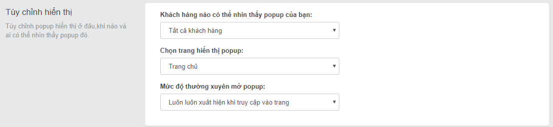 Hướng dẫn cài đặt và sử dụng ứng dụng Tạo popup sản phẩm