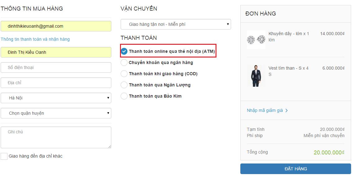 Tích hợp Cổng thanh toán OnePay (Nội địa)