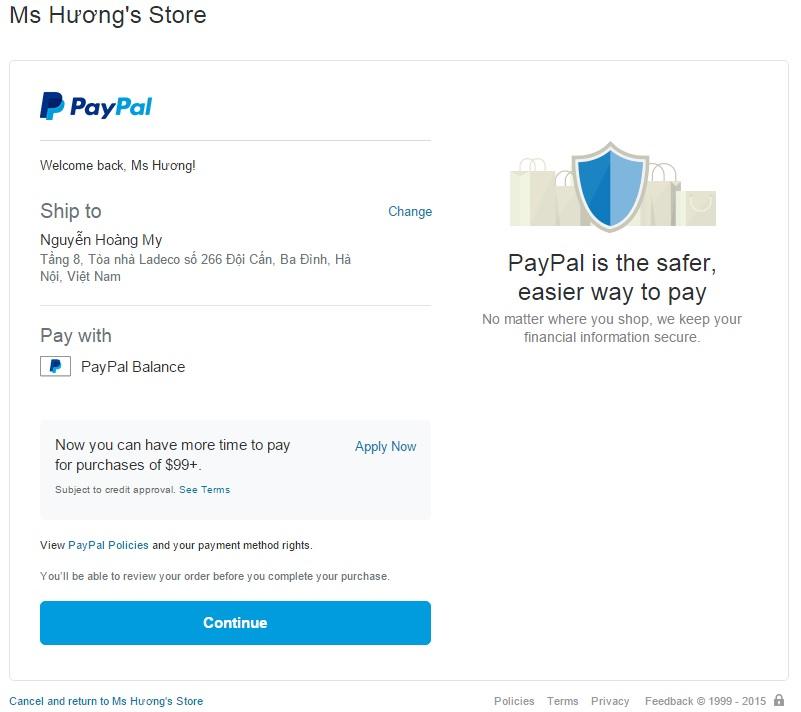 Tích hợp cổng thanh toán Paypal